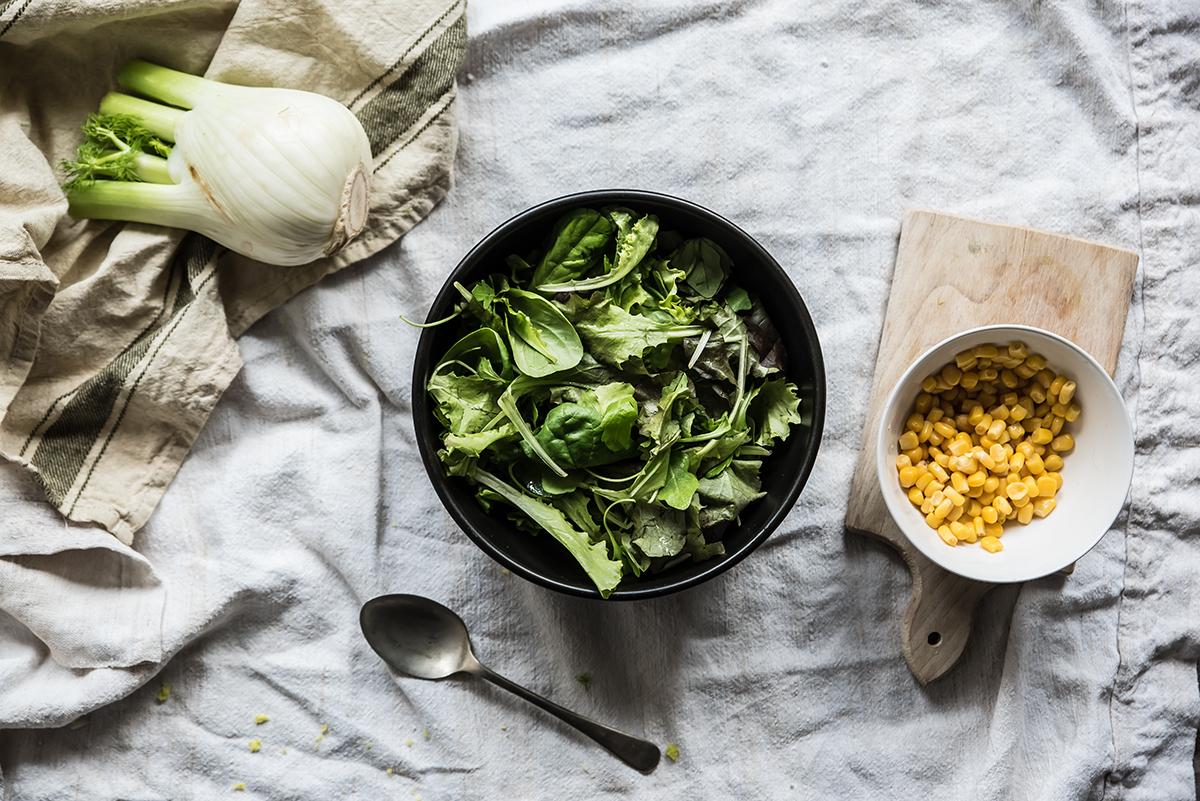 insalata di finocchi preparazione piatto