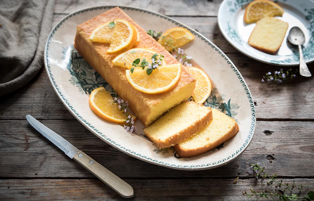 plumcake all'arancia