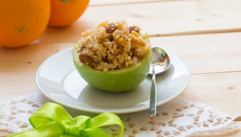 ricette con uva : mele ripiene