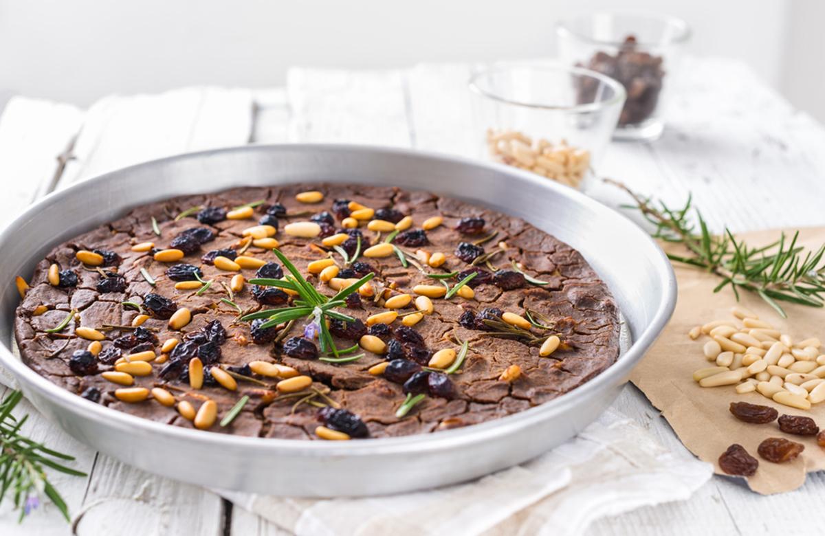 ricette con le castagne: castagnaccio