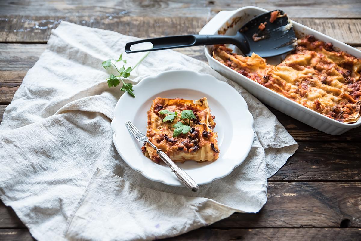 lasagna con ragù di polpo
