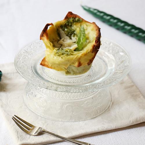 La ricetta facilissima delle lasagne al pesto light, senza glutine e senza lattosio
