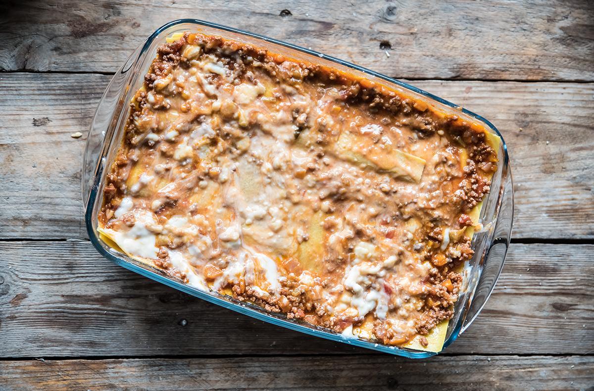 lasagne al forno light con ragù di carne