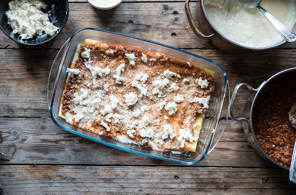 lasagne al forno con ragù di carne