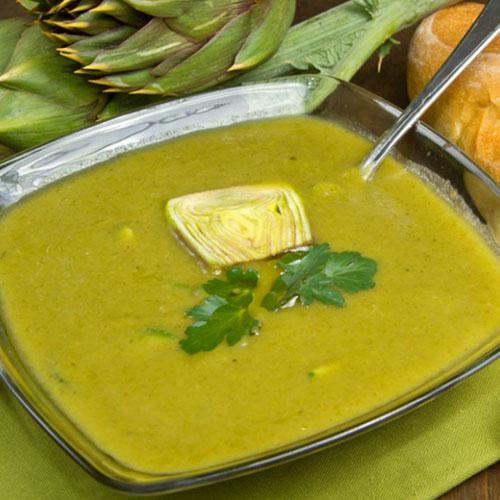 minestra con patate e carciofi