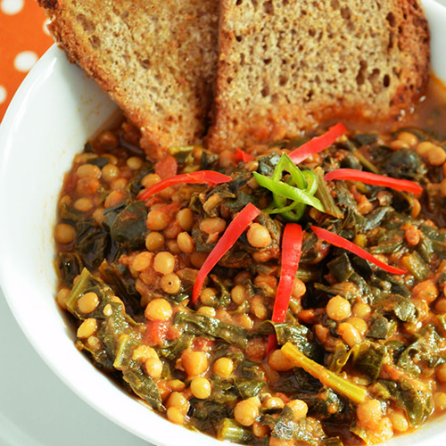 Zuppa lenticchie spinaci