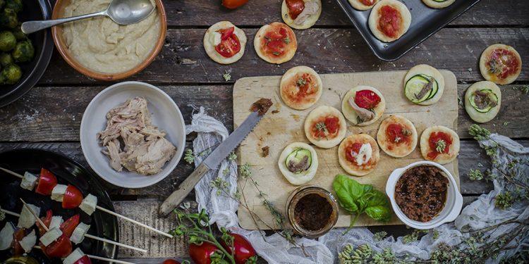 pizzette allo yogurt greco