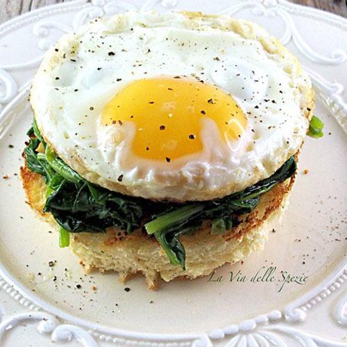 bruschetta con spinaci