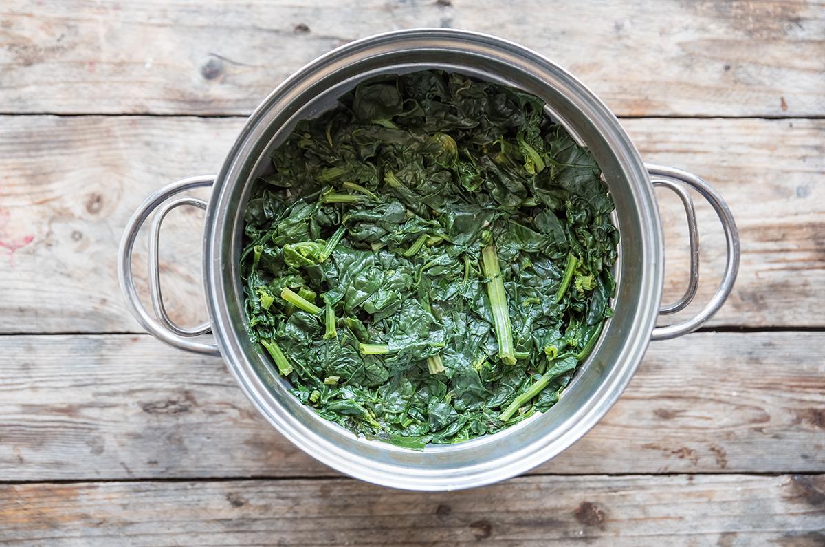mezzelune ricotta e spinaci: fase 1