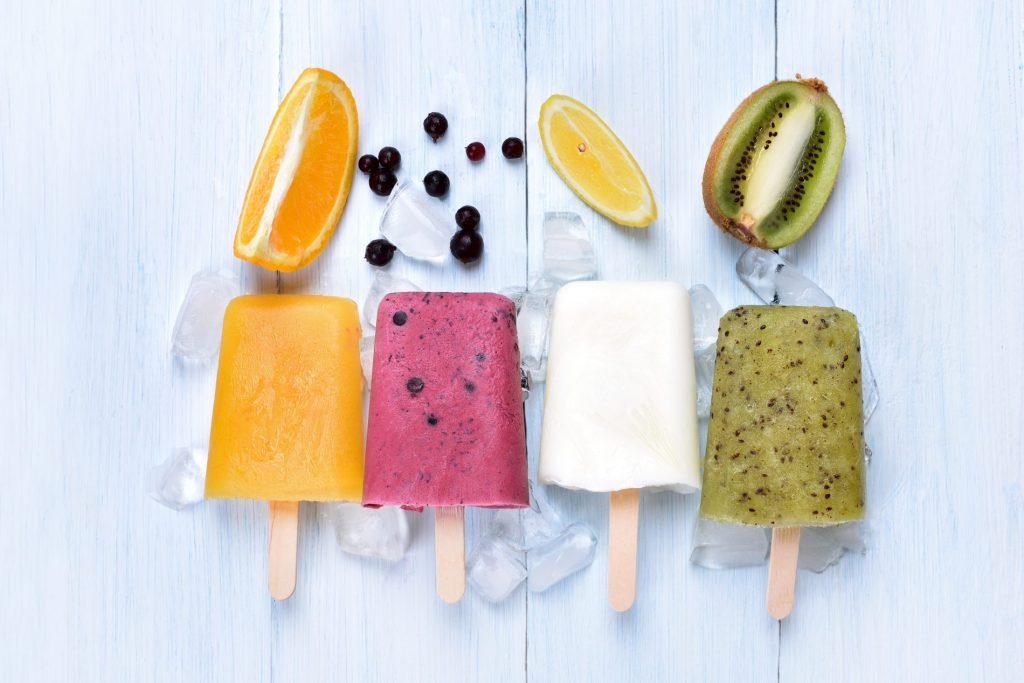ricette con yogurt: ghiaccioli di frutta