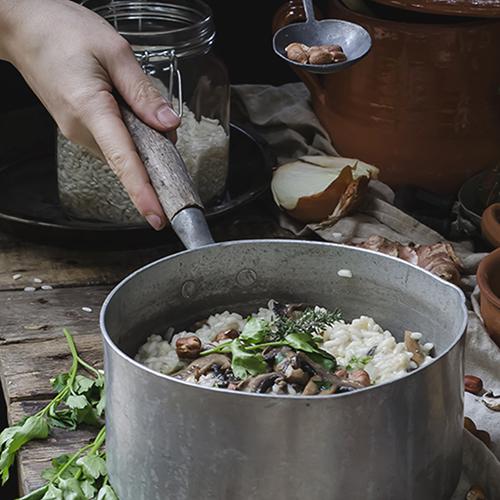 risotto con topinambur