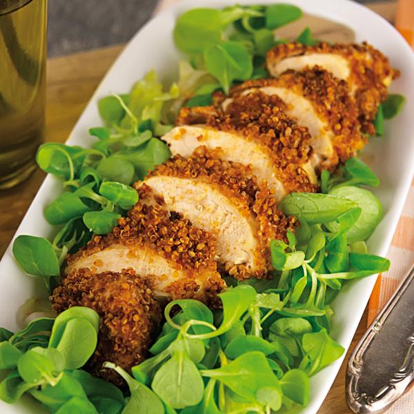 La ricetta senza glutine e light del petto di pollo in crosta