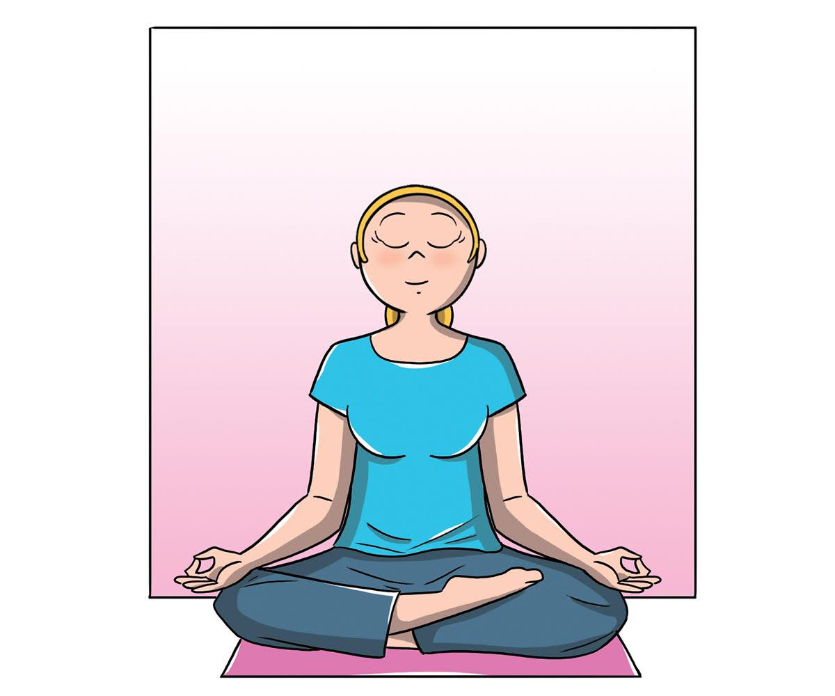 cervicale: esercizio del loto per rilassare il collo