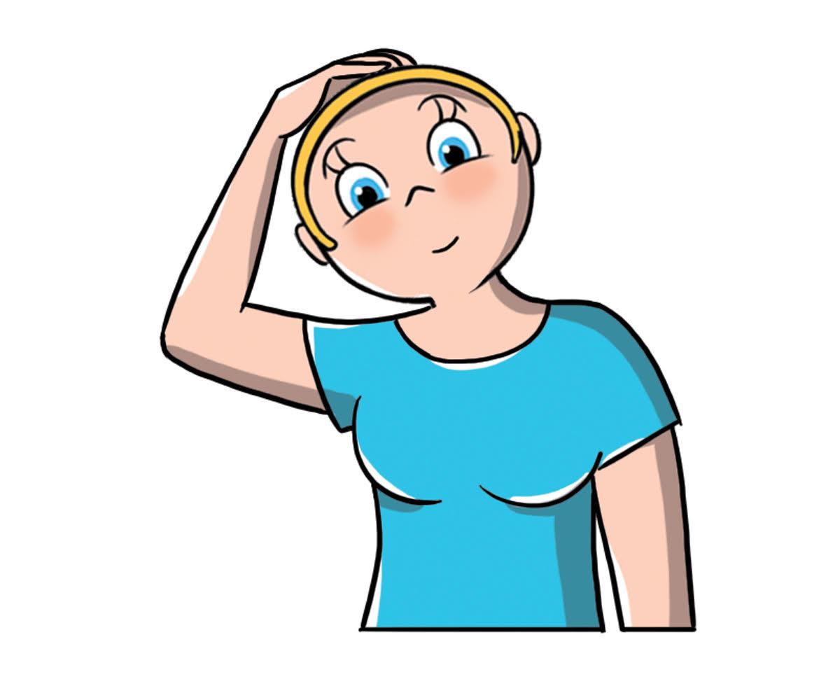cervicale: ginnastica per allungare trapezio