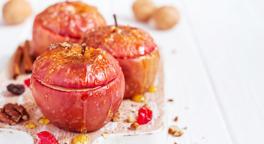 Cestini di mele e kiwi