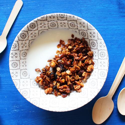 La ricetta light della granola di fiocchi di avena