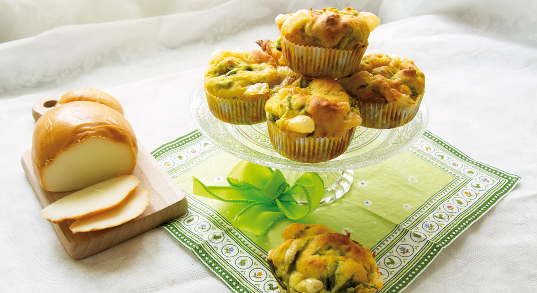 La ricetta base dei muffin salati con asparagi e scamorza senza glutine