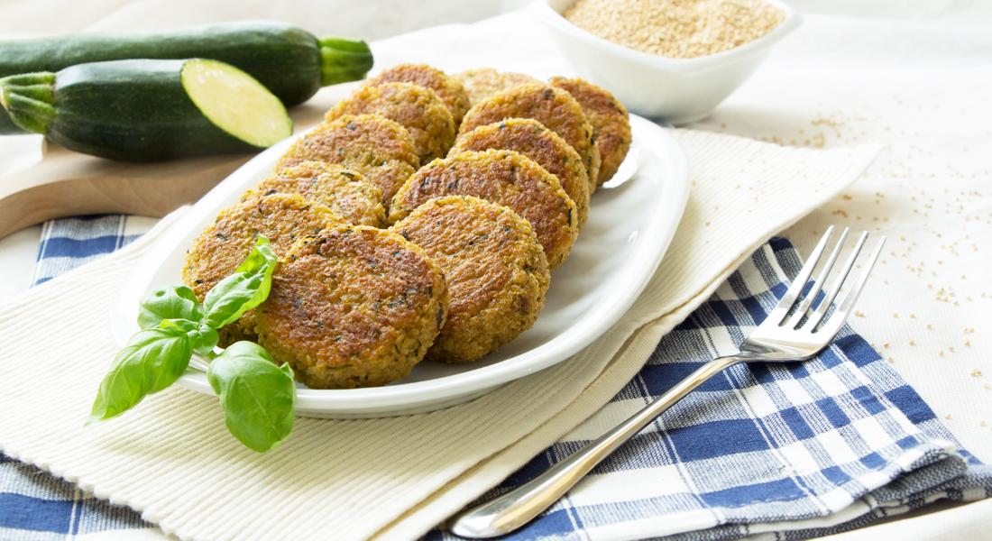 polpette di quinoa senza glutine con zucchine