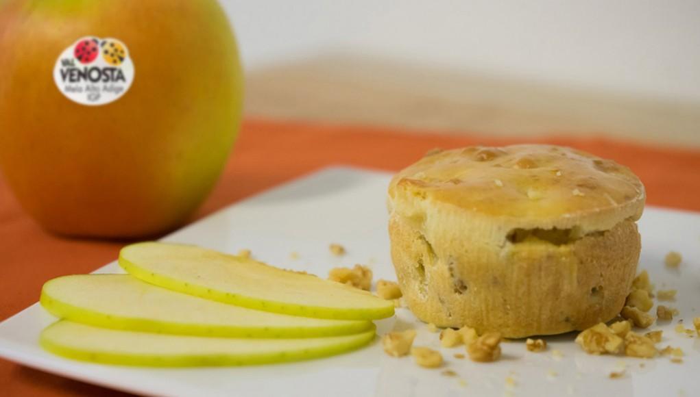 Tortino di mele e noci