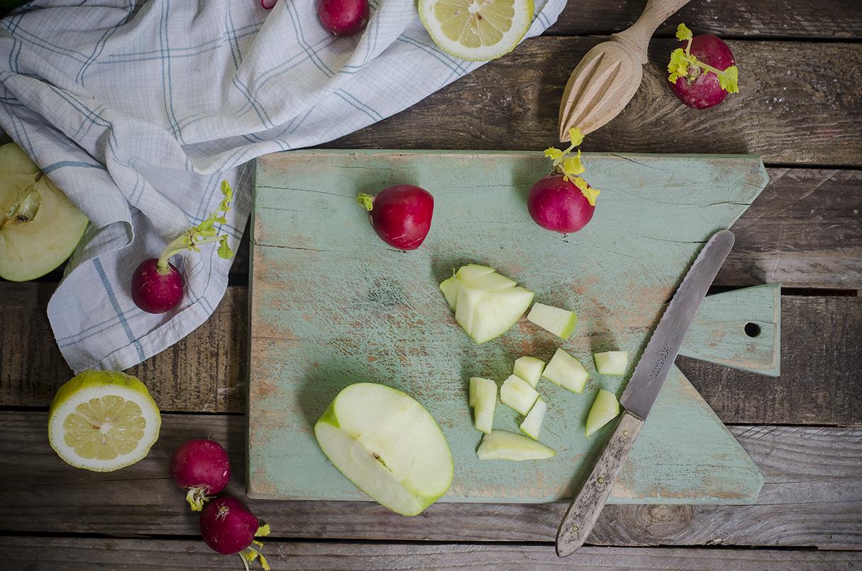 insalata di miglio con mela verde