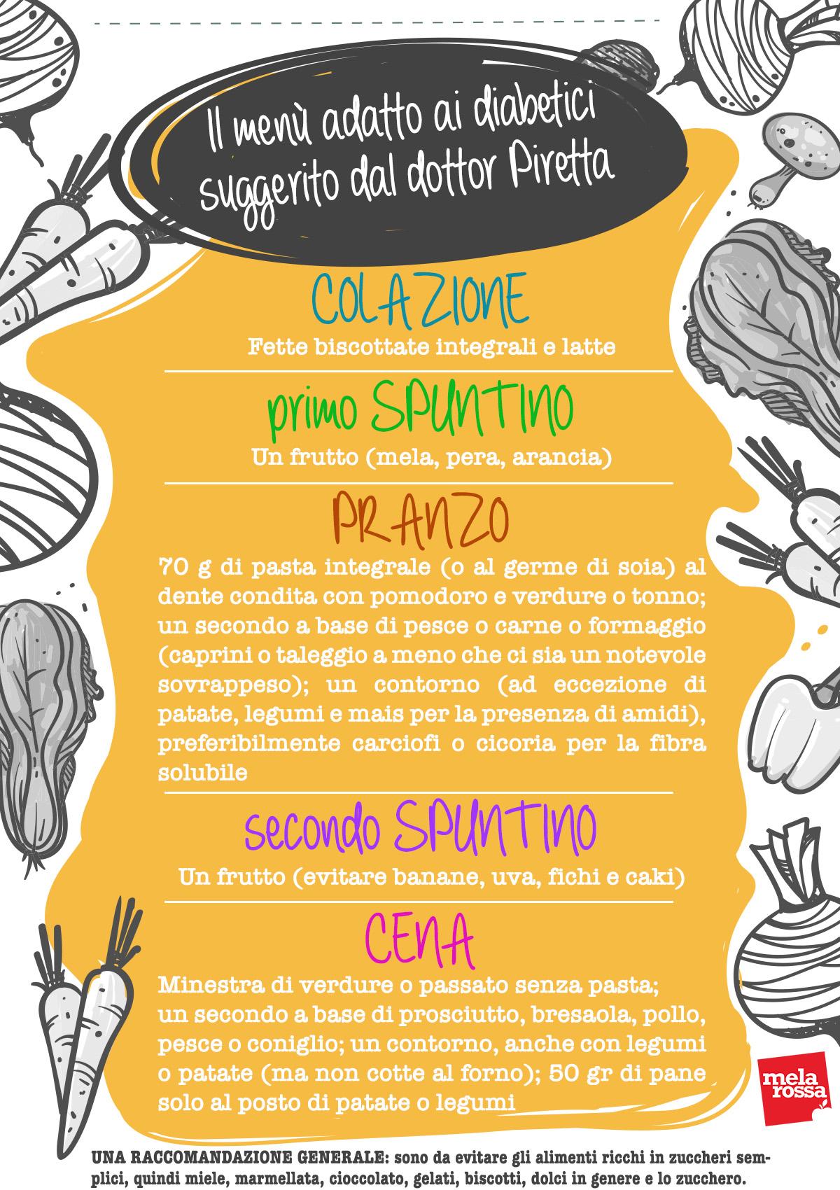 menu diabetici
