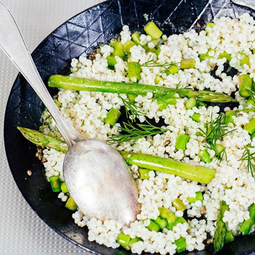 orzo e asparagi