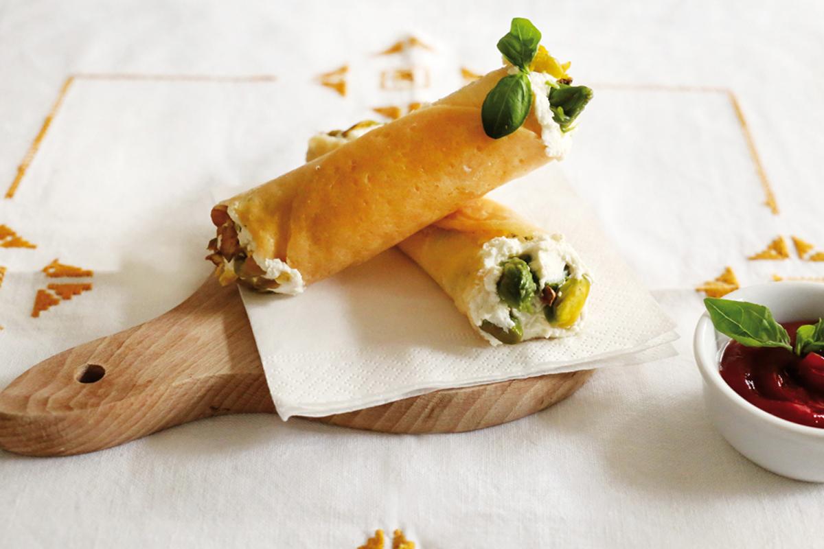 Ricette con asparagi: cannoli asparagi e ricotta