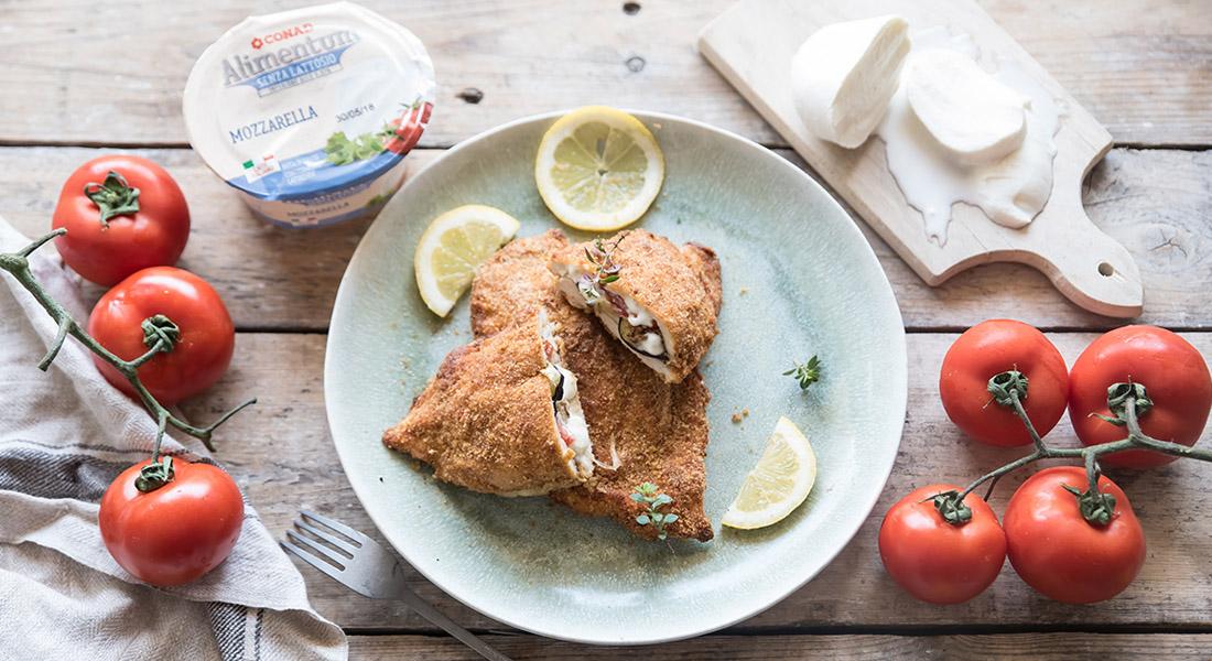 cordon bleu pollo melanzane mozzarella