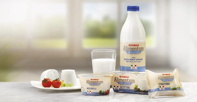 Linea Conad Alimentum per intolleranza al lattosio
