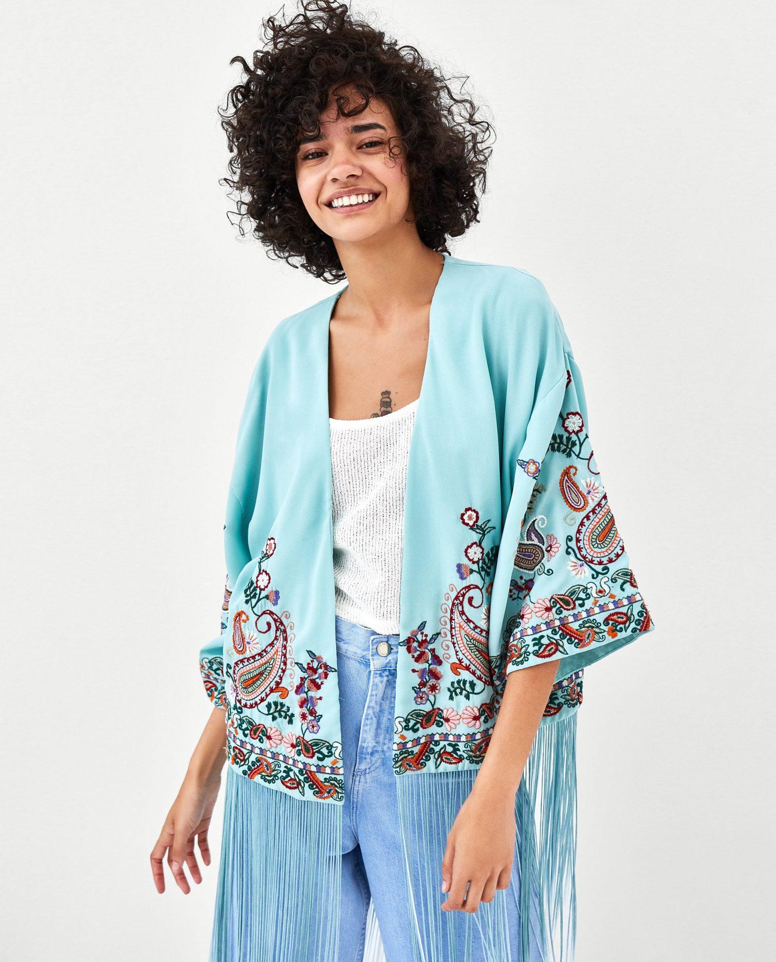 kimono corto zara