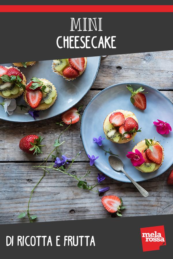 Mini cheesecake con ricotta e frutta