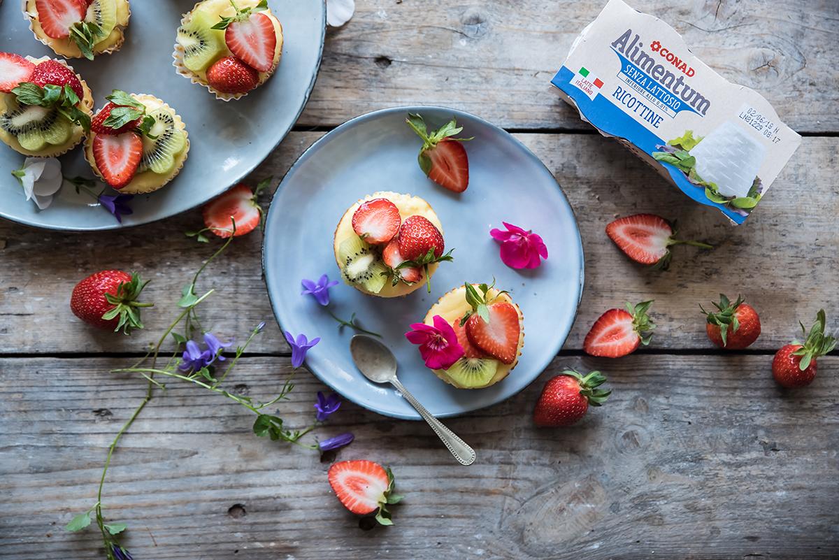 Mini Cheesecake di ricotta e frutta
