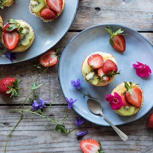 Mini cheesecake di ricotta e frutta ricetta