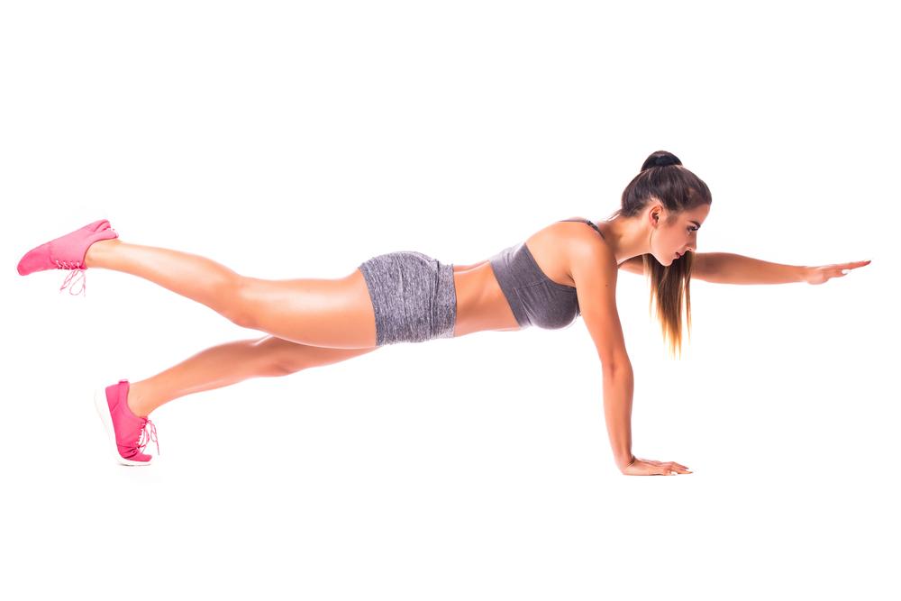 plank braccia gamba alternate: challenge plank
