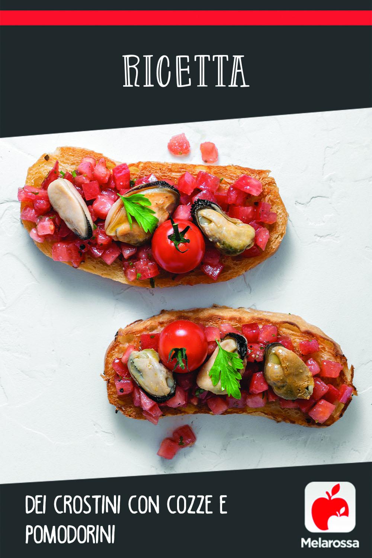 crostini con cozze e pomodori