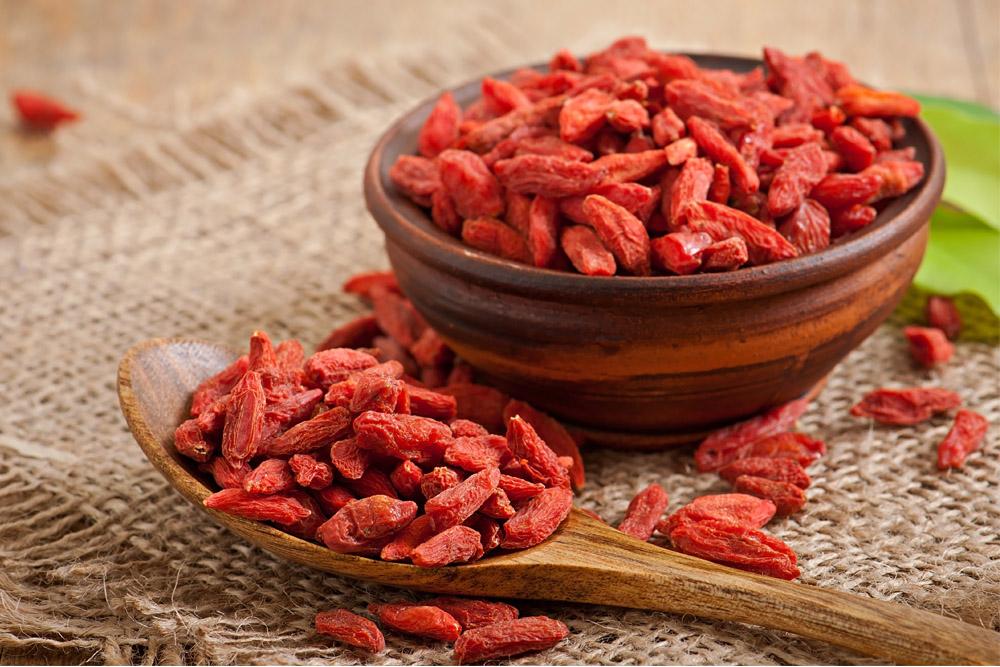 frutti rossi: bacche di goji
