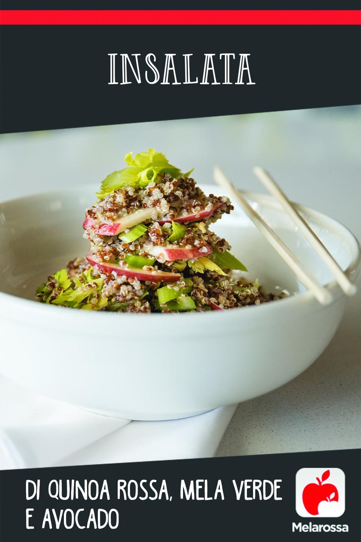 Insalata di quinoa rossa