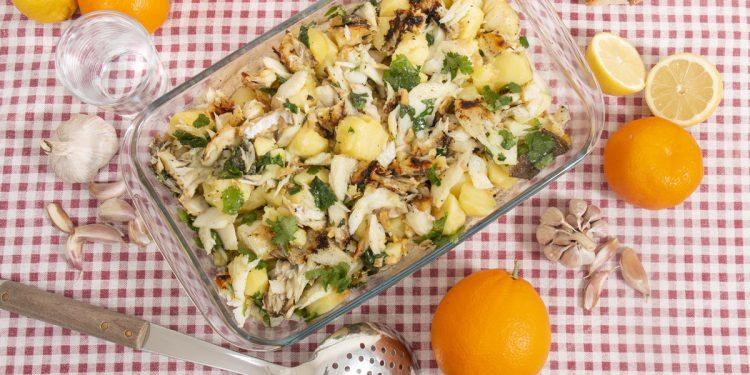 Merluzzo gratinato con patate
