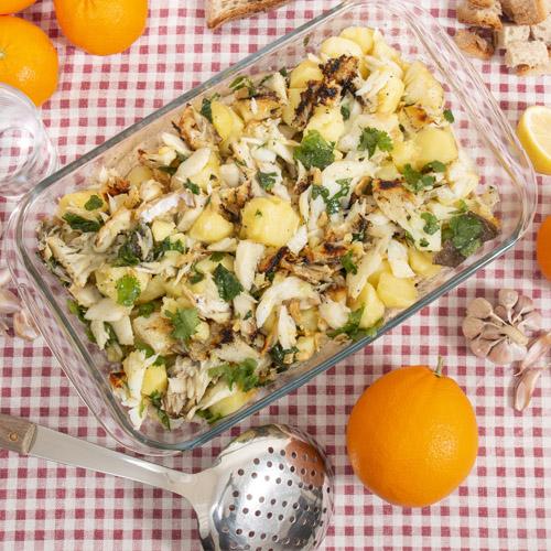 Merluzzo gratinato con patate ricetta