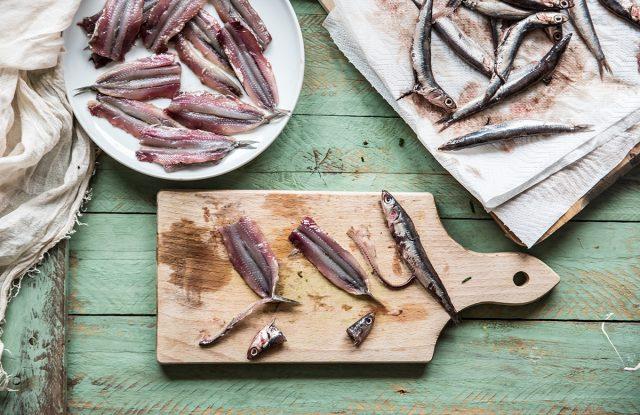 alici marinate preparazione