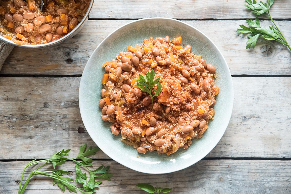 chili vegetariano, ricette con quinoa