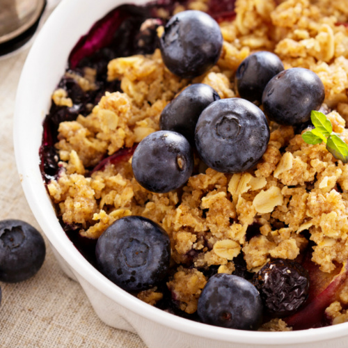 crumble di frutta, un dolce light
