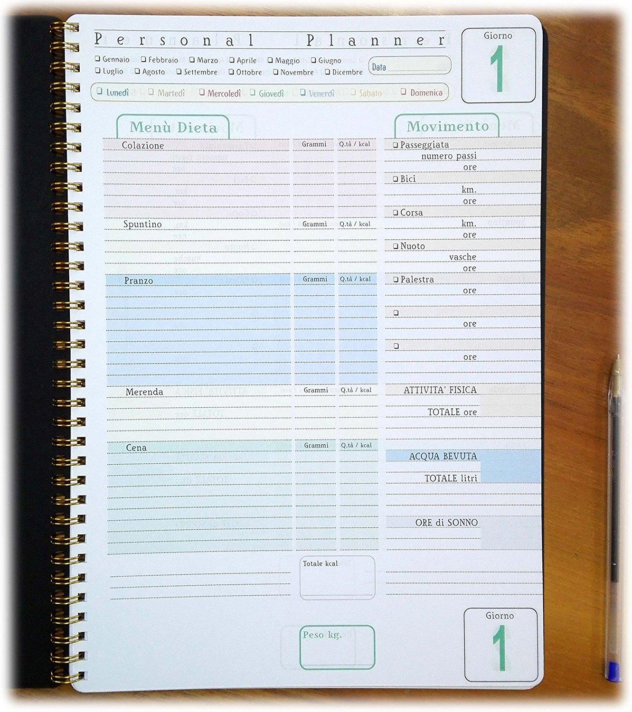 diario alimentare personal planner