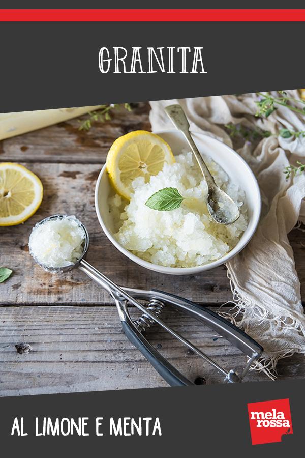 granita al limone e menta