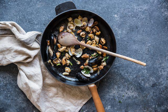 insalata di mare preparazione mista