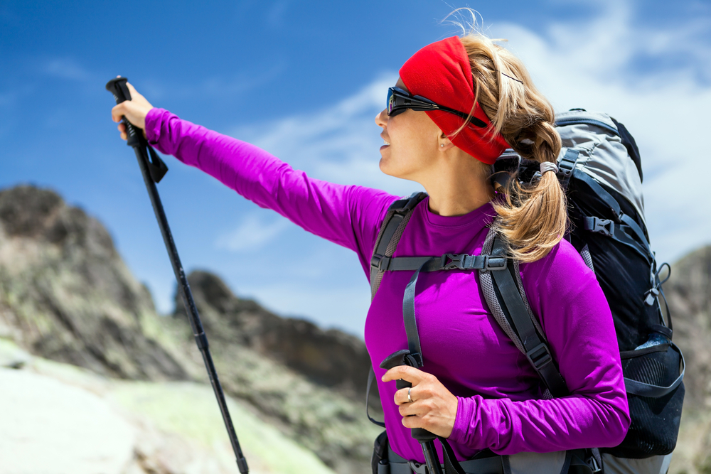 nordic walking: consigli per scegliere attrezzatura zaino