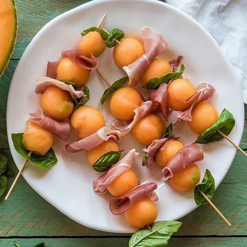 ricetta-spiedini di prosciutto e melone