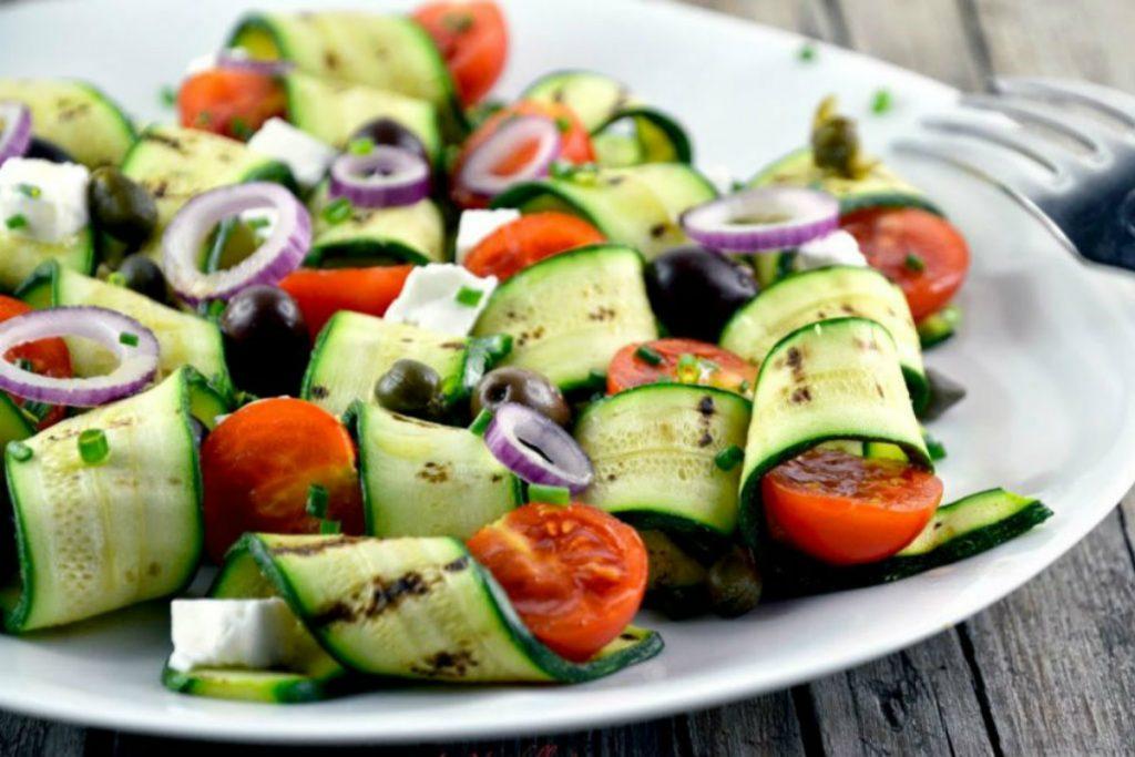 ricette con zucchine, il carpaccio