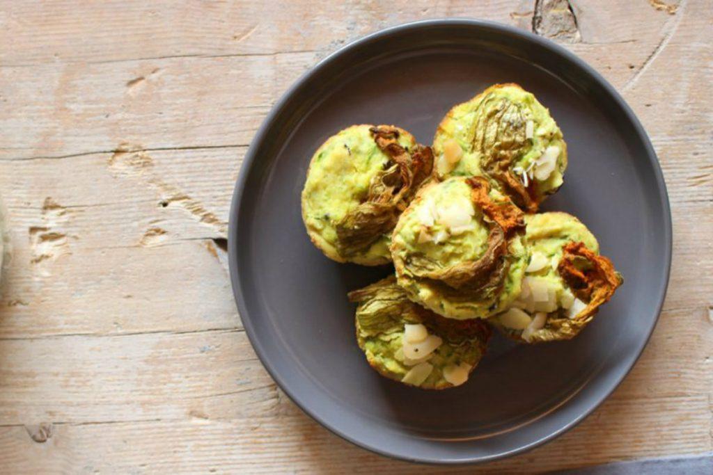 ricette con zucchine, muffin salati