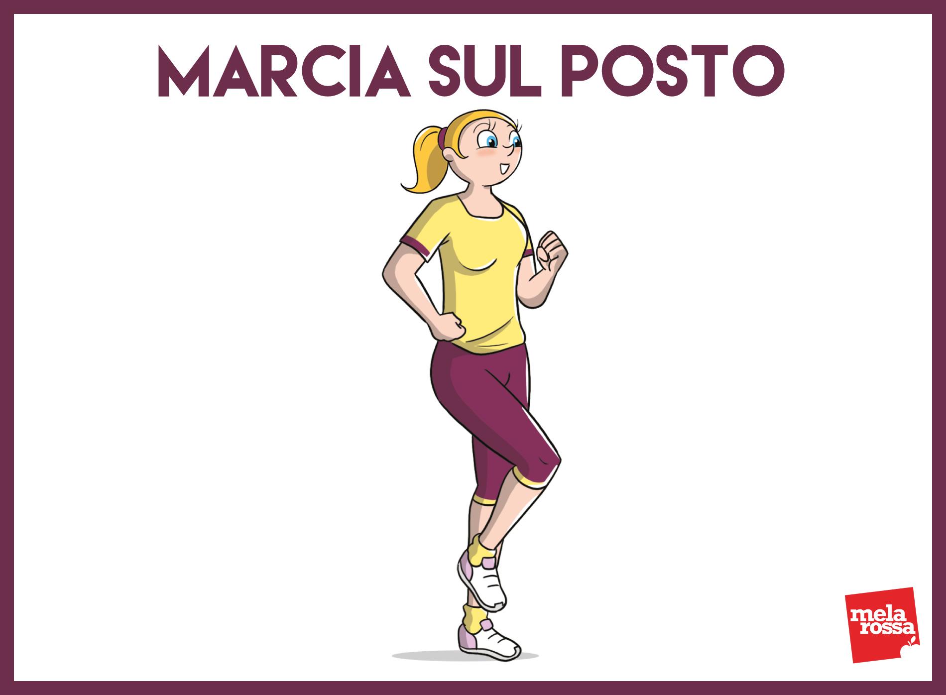 risveglio muscolare: marcia sul posto
